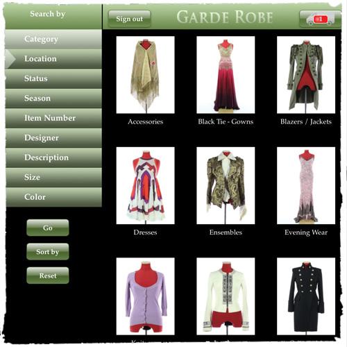 garde robe cataloguing