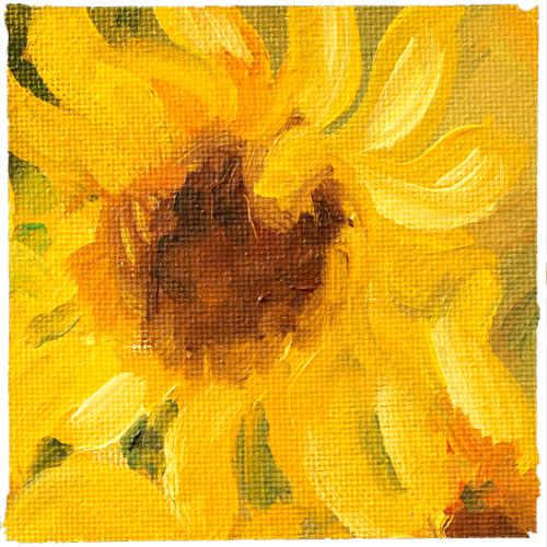IAS oil on canvas flower