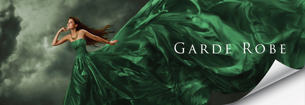 garde robe green dress banner