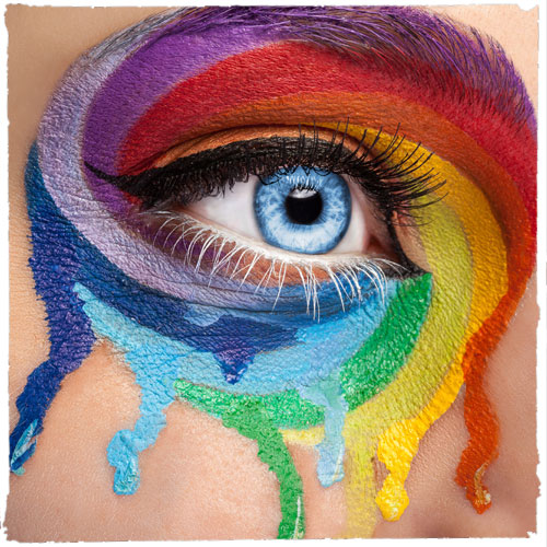 artistic painted eye (IAS)